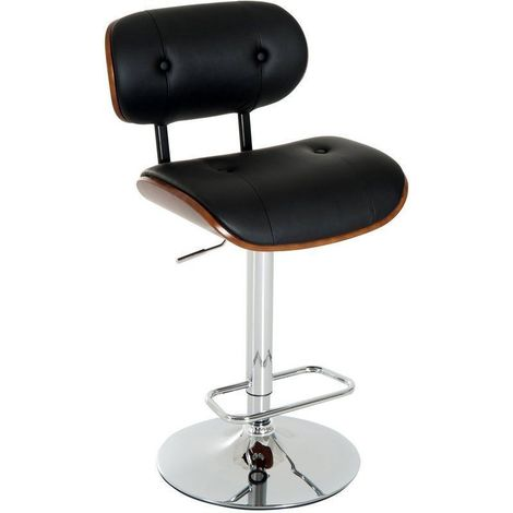 Marvelous Homcom Adjustable Bentwood Swivel Bar Stool Gas Lift Pu Pabps2019 Chair Design Images Pabps2019Com