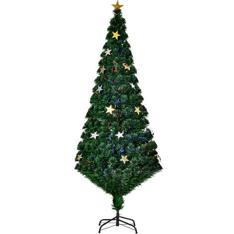"""main image of """"HomCom Albero di Natale Artificiale Abete con 27 LED Luci a Forma di Stella 180cm"""""""