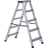 Homcom Aluminium Double Sided Step Ladder Folding A-type Household Stepper