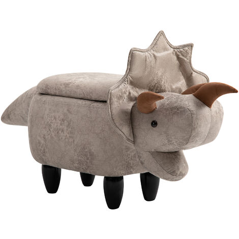 HOMCOM Animal Shape Ottoman Storage Padded Cushion Pouffe Stool