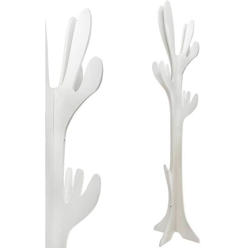 Albero Attaccapanni.Homcom Appendiabiti Da Terra Attaccapanni Albero Modello Cactus In Legno