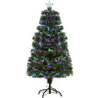 6de809bc508 HOMCOM Árbol de Navidad 120cm Artificial Árboles con 130 Luces LED 7  Colores y Estrella Decorativa