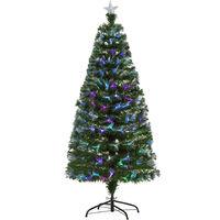 a1617dbcb5f HOMCOM Árbol de Navidad 150cm Artificial Árboles con 180 Luces LED 7  Colores y Estrella Decorativa