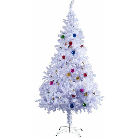 264fefaffe6b8 HOMCOM Árbol de Navidad 150cm Artificial Pino con Adornos Decorativos 48  Pcs y Soporte Metálico Color ...