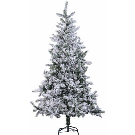 HOMCOM Árbol de Navidad a La Mitad ∅115x180cm Artificial Árbol de Pino con Soporte 472
