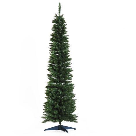 """main image of """"HOMCOM Árbol de Navidad Artificial 180 cm Ignífugo con 390 Puntas de Rama PVC y Soporte de Metal Decoración Navideña para Interiores Fácil de Montar - Verde"""""""