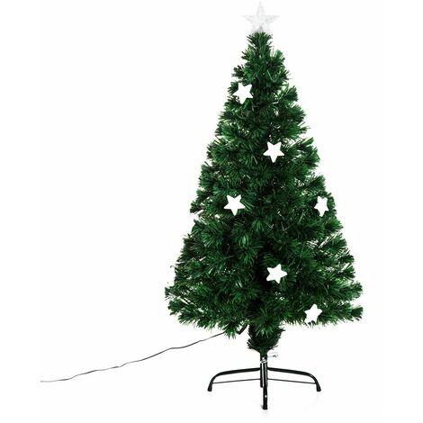 bc9f70acb3c97 HOMCOM Árbol de Navidad Artificial Árboles de Abeto 120cm con Soporte  Decoraciones Navideñas Copos de Nieve Fibra Óptica Brillante LED Multicolor  Ignífugo