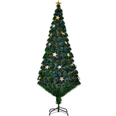 HOMCOM Árbol de Navidad Medidas 120/150/180/210cm DECORACIÓN INCLUÍDA Abeto Navidades