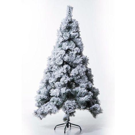 432e7d896b41 Homcom Artificial Christmas Tree 180cm High Density Pine Xmas Decoration  Tree w/ Metal Stand (
