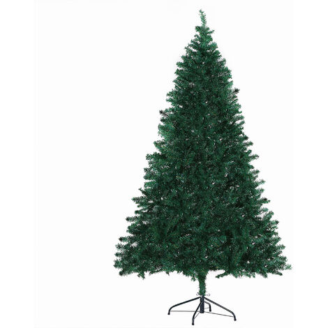 HOMCOM Artificial Faux Christmas Tree Plain Fir 1000 Tips Metal Base 6FT