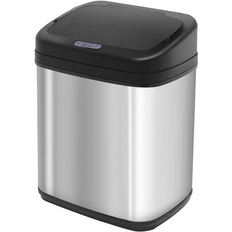Homcom Automatic Sensor Dustbin Kitchen Waste Bin Rubbish Stainless Steel w/ Bucket