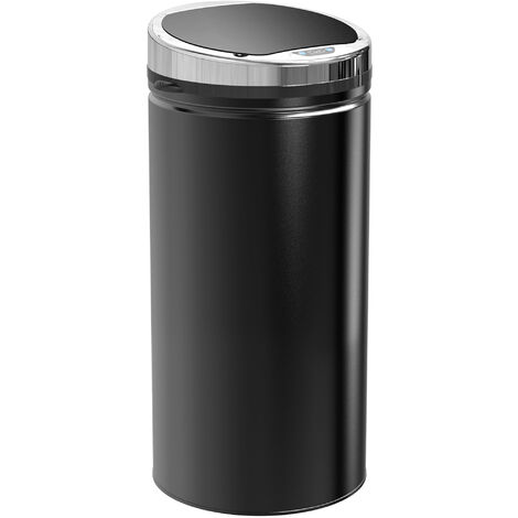 Homcom Automatic Sensor Dustbin Kitchen Waste Bin Rubbish Stainless w/ Bucket Black