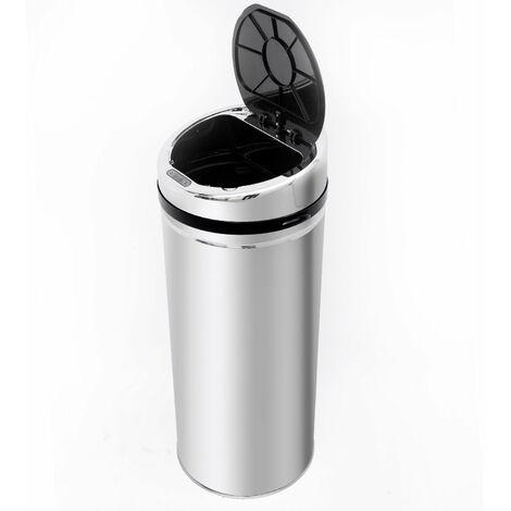 Homcom Automatic Sensor Dustbin Kitchen Waste Bin Rubbish Stainless w/ Bucket Chrome