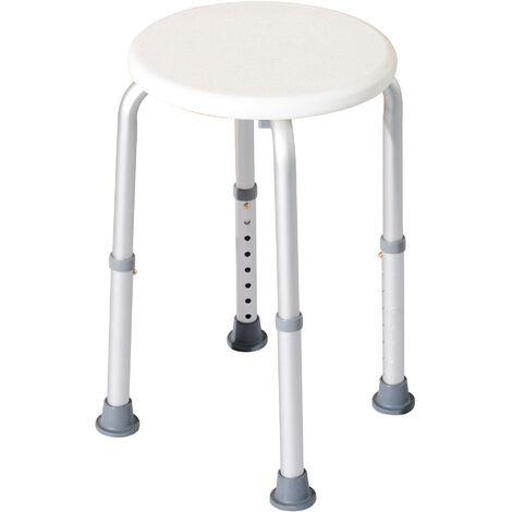 HOMCOM Backless Bath Seat Chair Shower Safety Bathroom Elderly Aid Adjustable