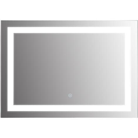 Gut bekannt HOMCOM® Badspiegel LED Lichtspiegel Wandspiegel 50 x 70 x4cm - 834-032 HV66