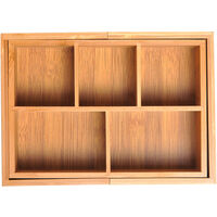 HOMCOM Bamboo Expandable Cutlery Tray Organiser Drawer Kitchen Holder