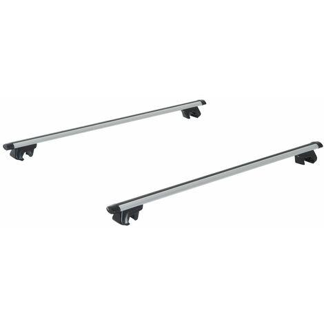 HOMCOM Barras para Techo tipo Baca Universal y Portaequipajes para Coche 125x5.5x7cm - Gris