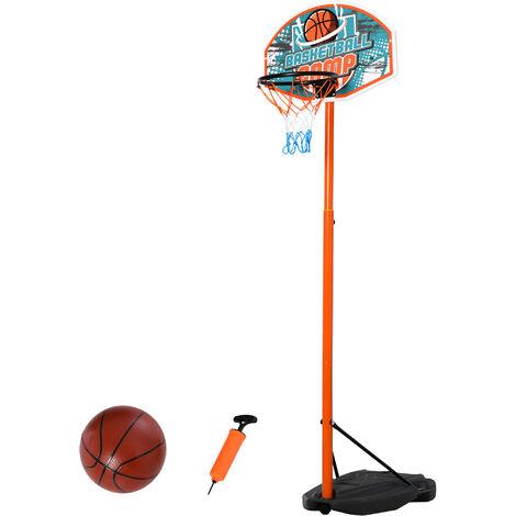 "main image of ""HOMCOM Basketball Set w/ Hoop Ball Pump Kids Child Exercise Game Outdoor Fun"""