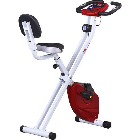 """main image of """"HOMCOM Bicicleta Estática para Ejercicios Profesional Altura Ajustable 43x97x109 cm - Rojo"""""""
