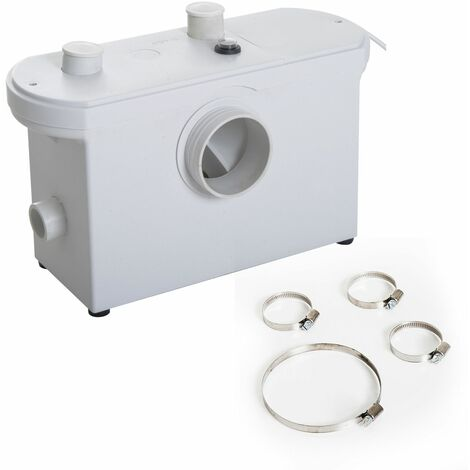 HOMCOM Bomba Trituradora de 3 Entradas Triturador Sanitario 700W Baño Cocina 51x21x31cm