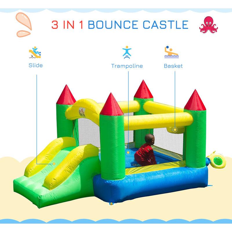 Homcom Bounce House Inflatable Kids Jumper Bouncy Castle 342 003