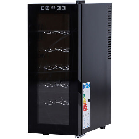 Homcom Cantina Refrigerata 11°-18° per Vino 5 Ripiani 12 Bottiglie