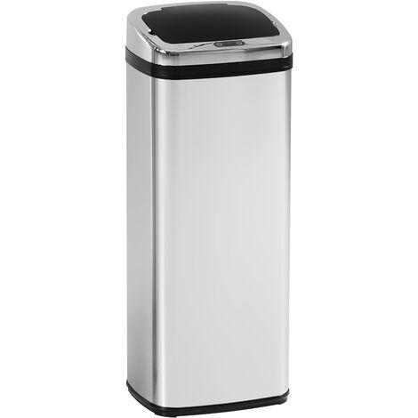 """main image of """"HomCom Cestino dei rifiuti rettangolare in acciaio inox con sensore automatico, 50L"""""""