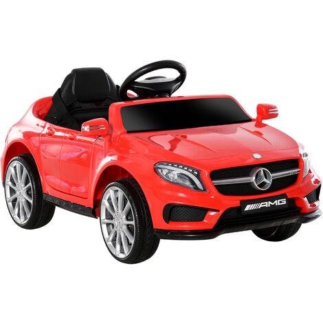 HOMCOM Coche Eléctrico Benz GLA Batería 6V Automóvil Infantil Niño +3 Años MP3+Mando - Rojo