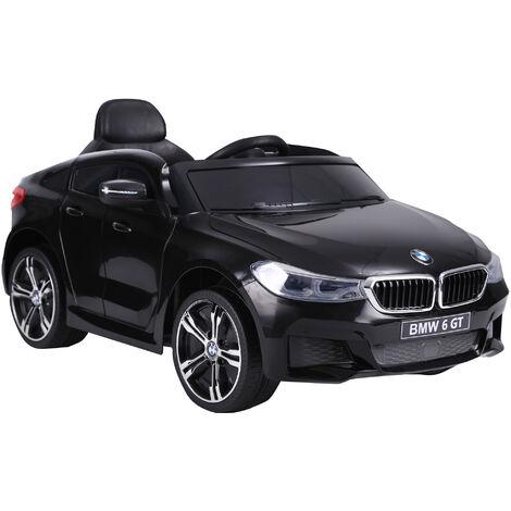 HOMCOM Coche Eléctrico BMW 6GT para Niño +3 Años Automóvil Infantil Batería 6V Carga - negro