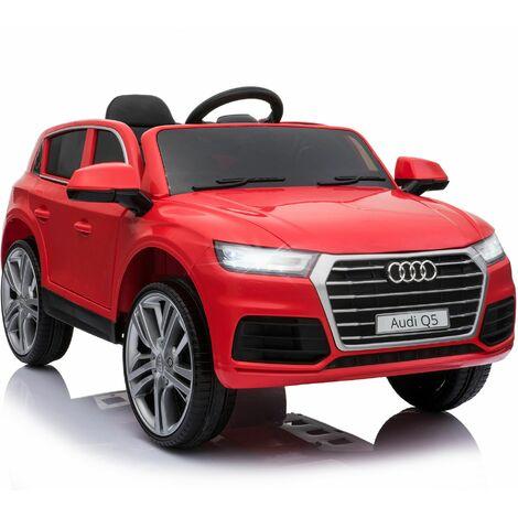 HOMCOM Coche Eléctrico para Niño +3 Años Audi Q5 Batería 12V Control Remoto Carga 30kg - Rojo