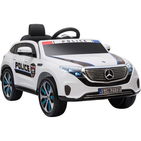 HOMCOM Coche Eléctrico para Niños +3 Años Mercedes EQC Batería 12V 106x68x53 cm Blanco - Blanco