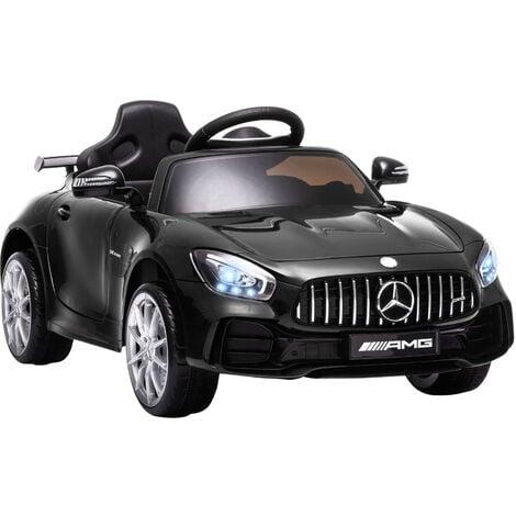 HOMCOM Coche Eléctrico para Niños con Licencia Mercedes GTR +3 Años Batería 12V Negro - Negro
