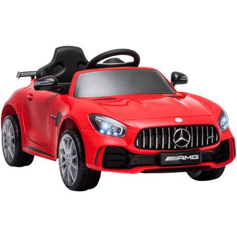HOMCOM Coche Eléctrico para Niños con Licencia Mercedes GTR +3 Años Batería 12V Rojo - Rojo