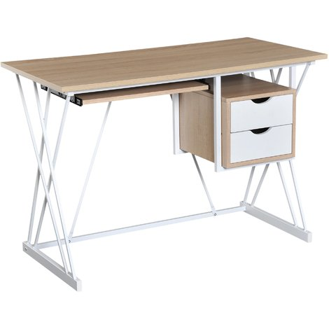 best sneakers dc5bb 9ba72 HOMCOM Computer Desk Writing Table Workstation Sliding ...
