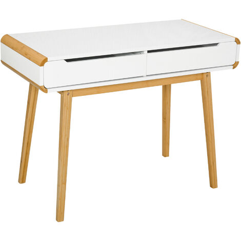 HOMCOM Computer Writing Desk w/ Drawers Study Table Laptop Desk Workstation