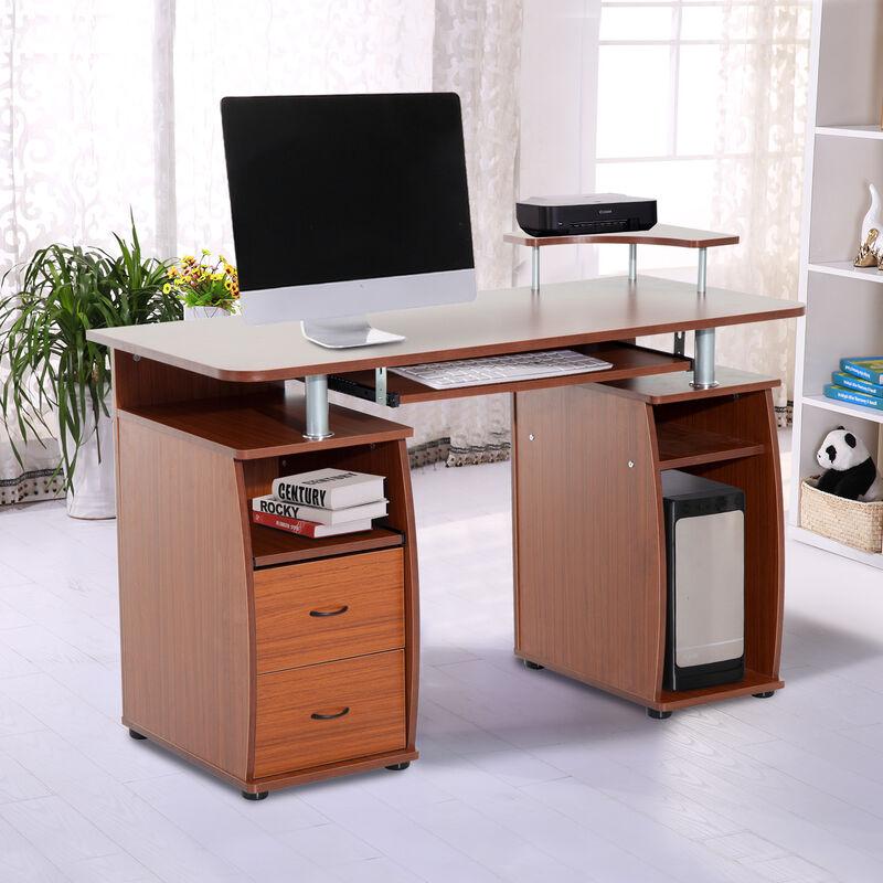 Schreibtisch Bürotisch Computertisch Arbeitstisch PC Tisch Walnuss//Schwarz