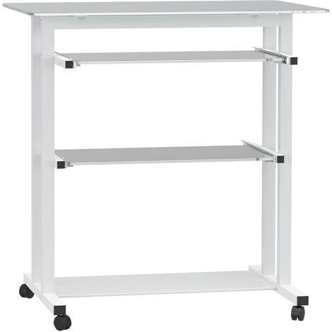 HOMCOM® Computertisch Schreibtisch Bürotisch PC Tisch Weiß