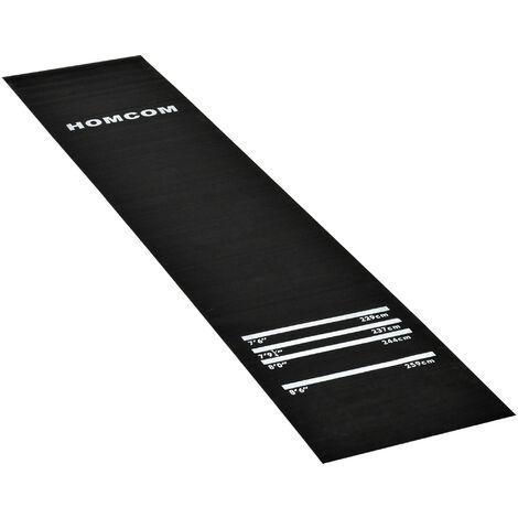 Homcom Darts Rubber Mat Professional 4 Throwing Distances Pub Club Home - Black