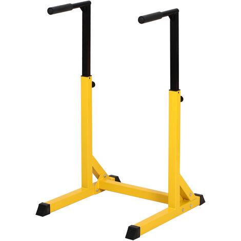 HOMCOM Dip Station Home Office Bars Workout Non-Slip Fitness Equipment 100kg