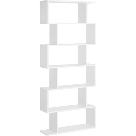 HOMCOM Estantería Librería 6 Estantes Comedor Salón Diseño Moderno Pared 80x23x192cm