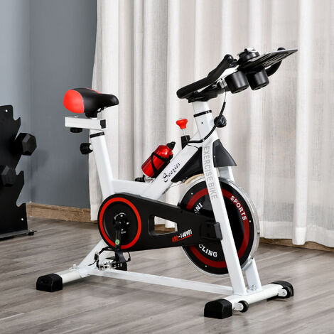 """main image of """"HOMCOM Exercise Cycling Bike w/ Adjustable Height Resistance Home Equipment"""""""