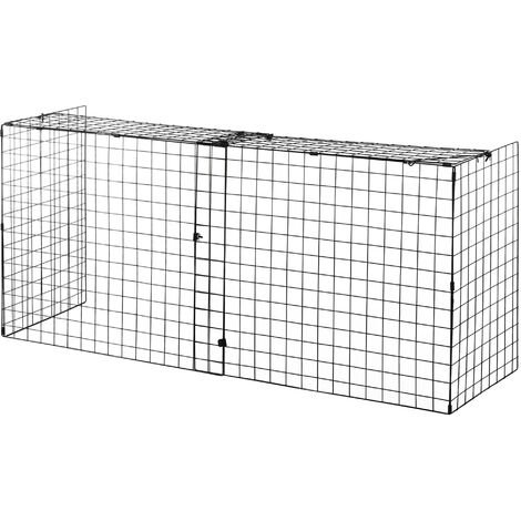 HOMCOM Extendable Fireguard Screen Foldable Fireplace Wire Mesh Cover - Black