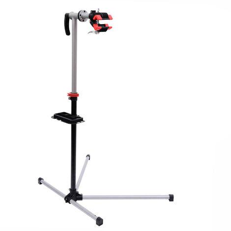 HOMCOM® Fahrrad Montageständer Reparaturständer mit Werkzeugablage