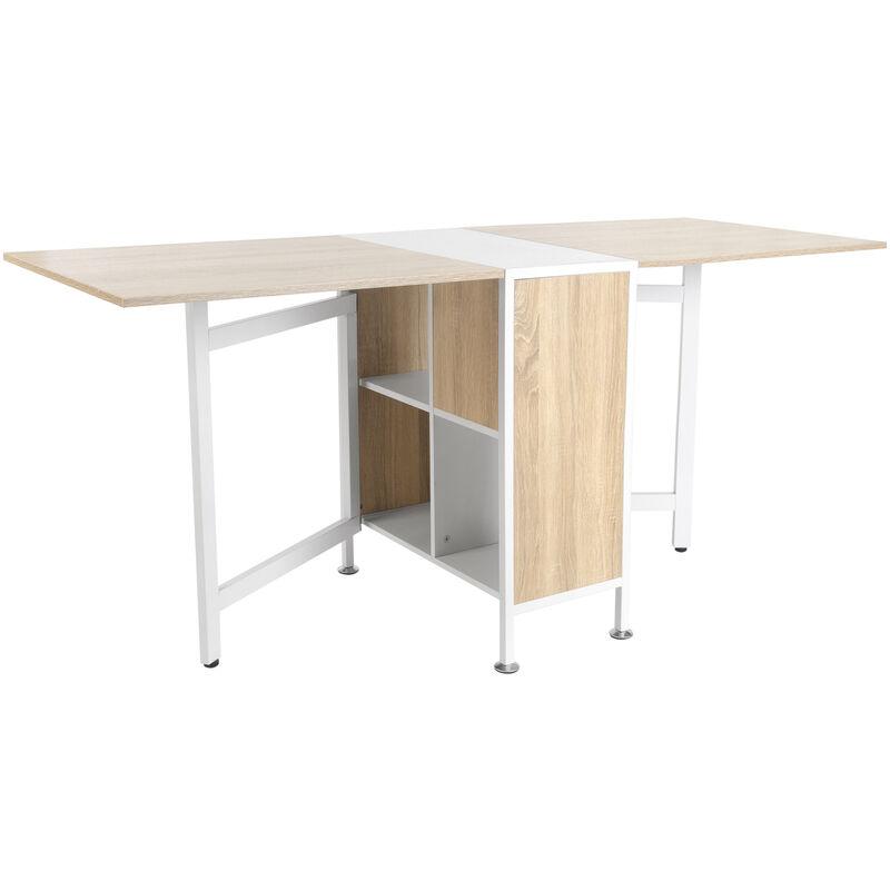 Homcom Foldable Drop Leaf Dining Kitchen Table Folding Computer Desk