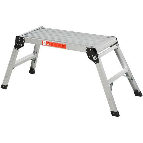 Homcom Folding Step Stool Work Platform 2 Step Ladder
