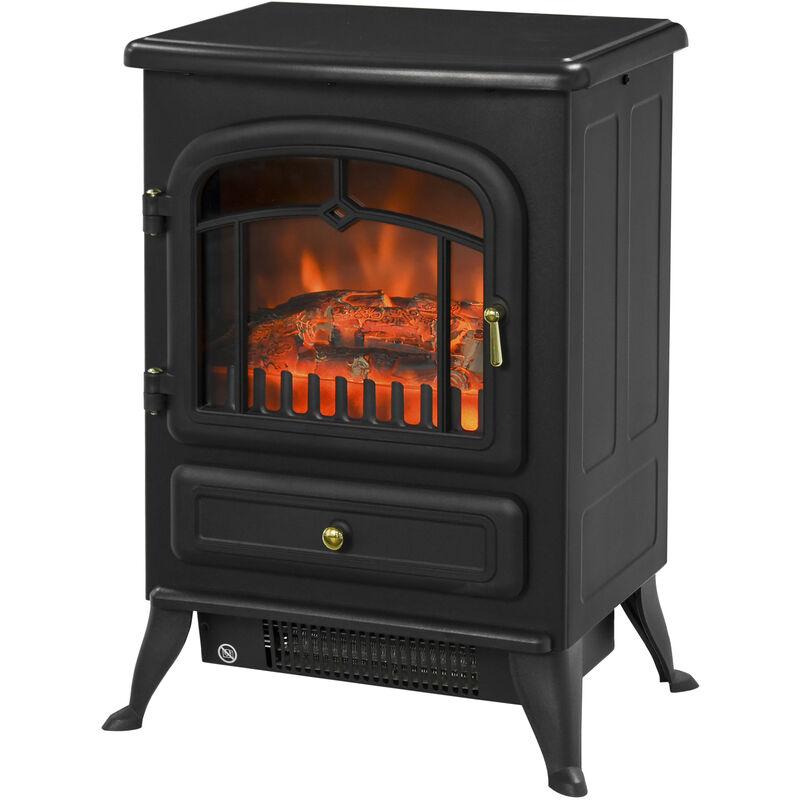 Retro Log Electric Fire Heater