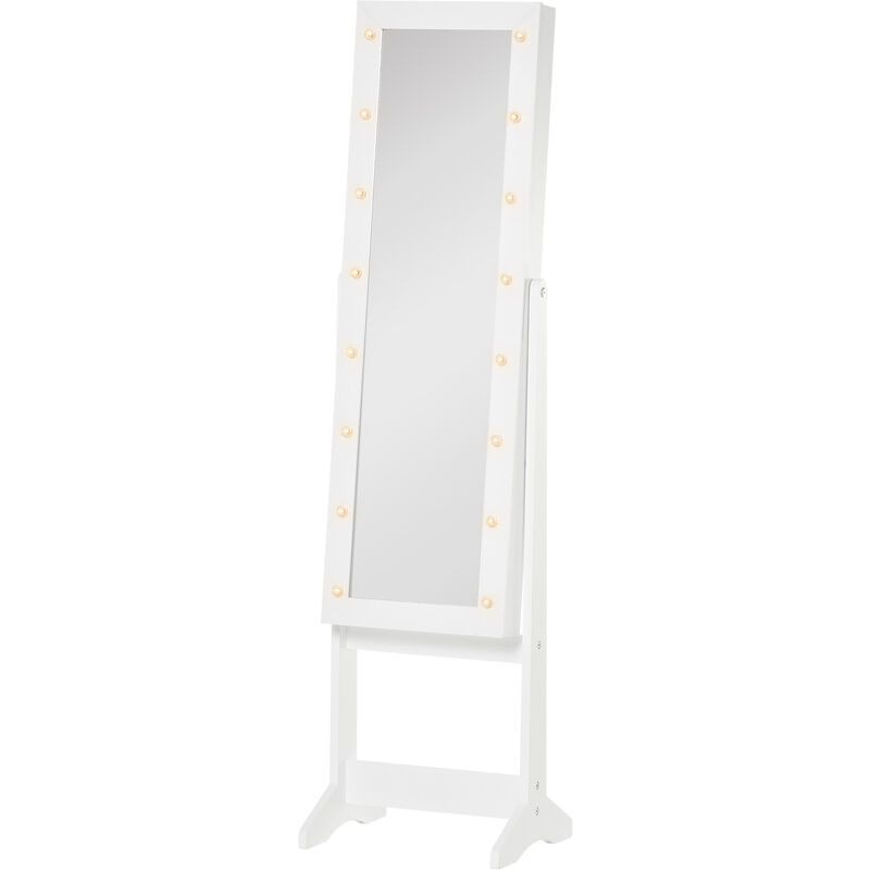 Floor Standing Mirror Makeup Cabinet Carpet Vidalondon