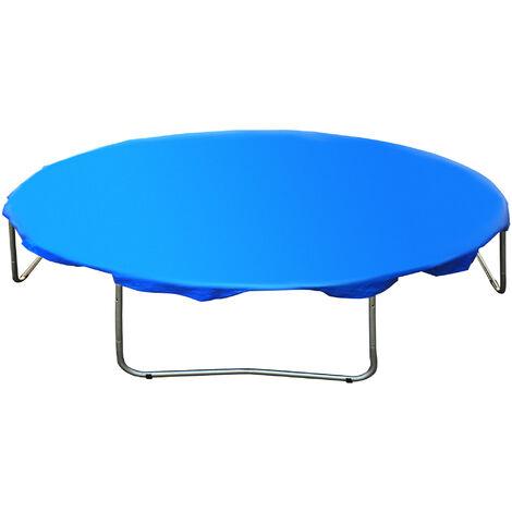 HOMCOM Funda Proteccion Impermeable para Cama Elástica Trampolines Ø244/305/366cm Azul