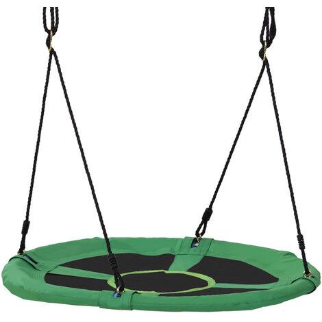 """main image of """"HOMCOM Giant Round Swing Seat Hanging Tree Backyard Playground Outdoor 100cm"""""""