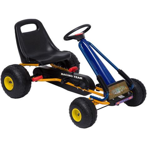 HOMCOM Go Kart Karts Coches de Pedales para Niños 3 a 8 años Normativa EN 71 con Freno